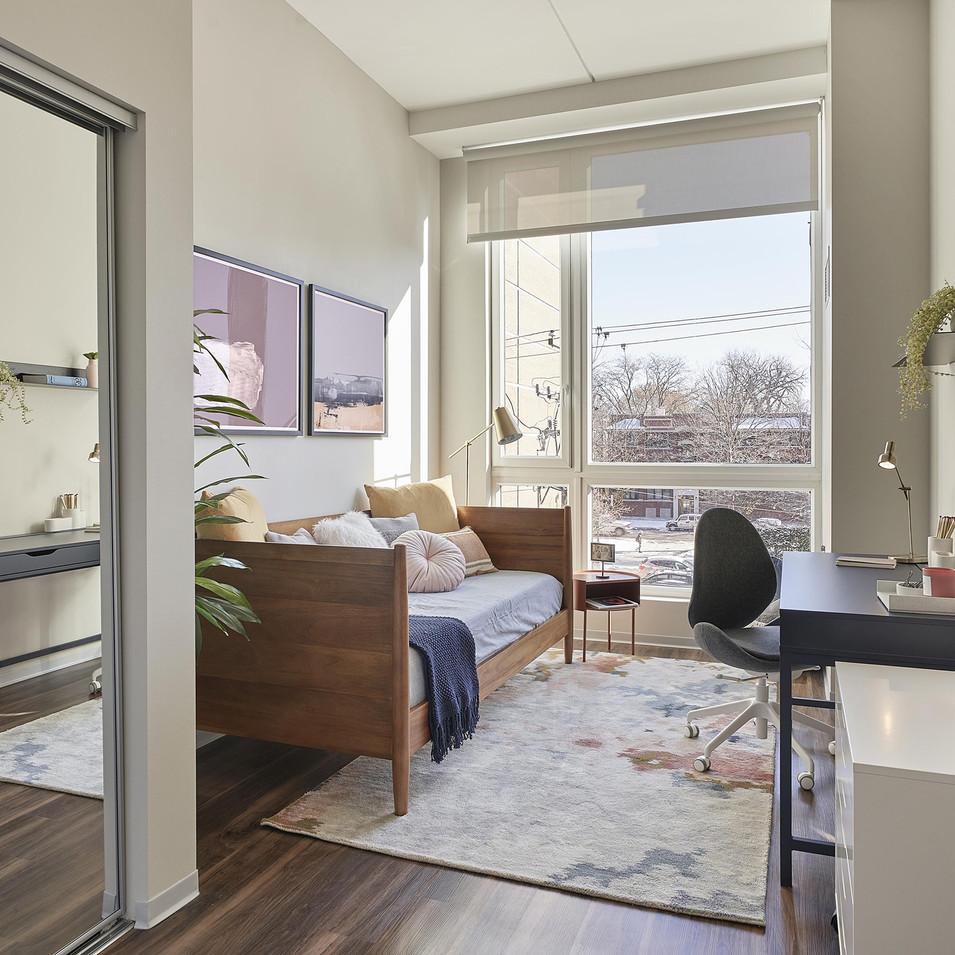 Luxury Model Unit Home Office Staging | Kuchar