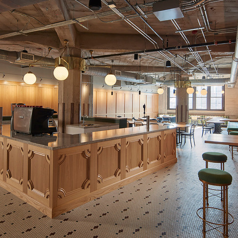 Warm Vintage Cafe in Confidential Chicago Financial Firm | Kuchar
