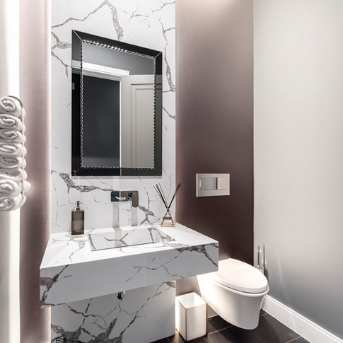 Luxury Long Grove Residential Powder Room | Kuchar