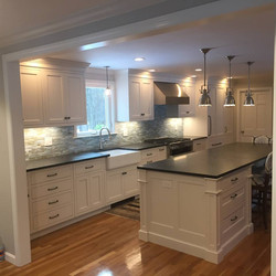 Kitchen Install, Sand and Finish