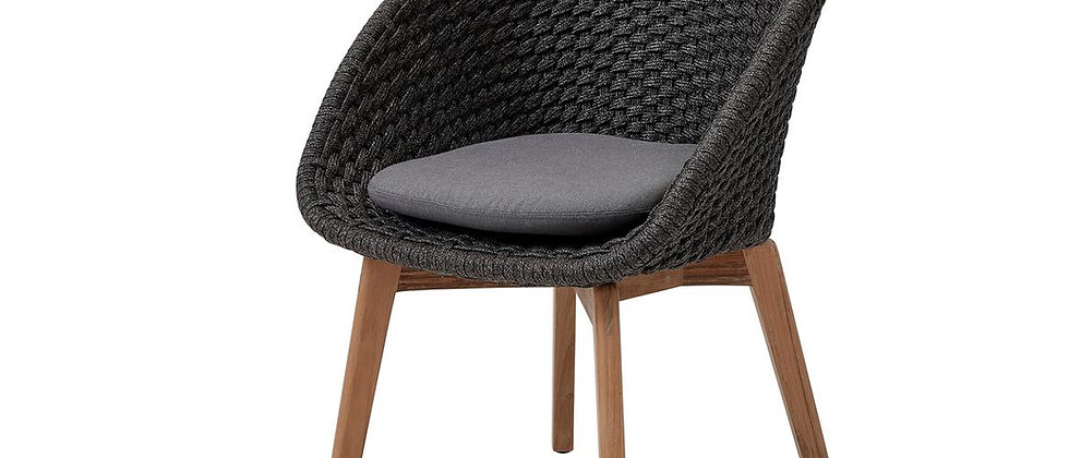 Peacock dining chair, Soft Rope