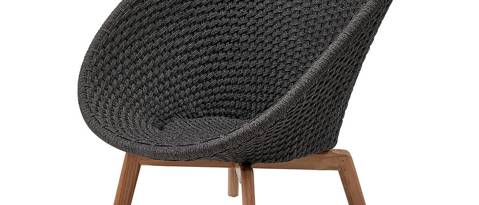 Peacock lounge chair Soft Rope