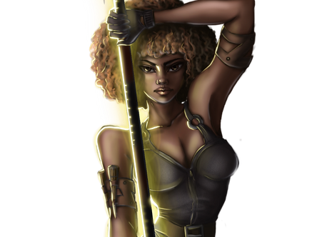 Roxie Andrews, heroine of Dagger-for-Hire by Lori Collier