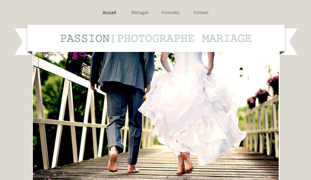 Mariages et Célébrations website templates – Photographe Noces