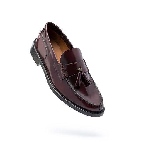 Sapato polido sola de couro