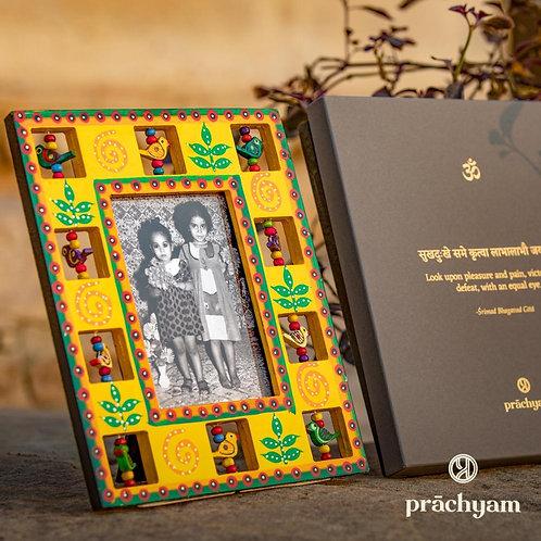 Handpainted Photo-Frame (Yellow) with Collectible Shloka Box