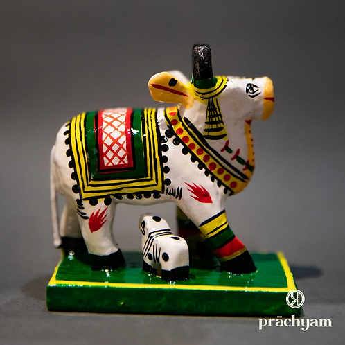 'Kamdhenu' Collectible Figure - Handpainted