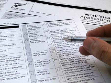 New work visa application process