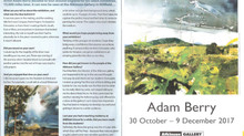 Adam Berry Exhibition at The Atkinson Gallery in Street, Glastonbury, Somerset