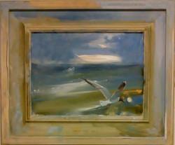 """'North Sea No.6' Oil on board h18""""x20"""" 2018 £450 SOLD (Wholesale/Artists studio price)."""