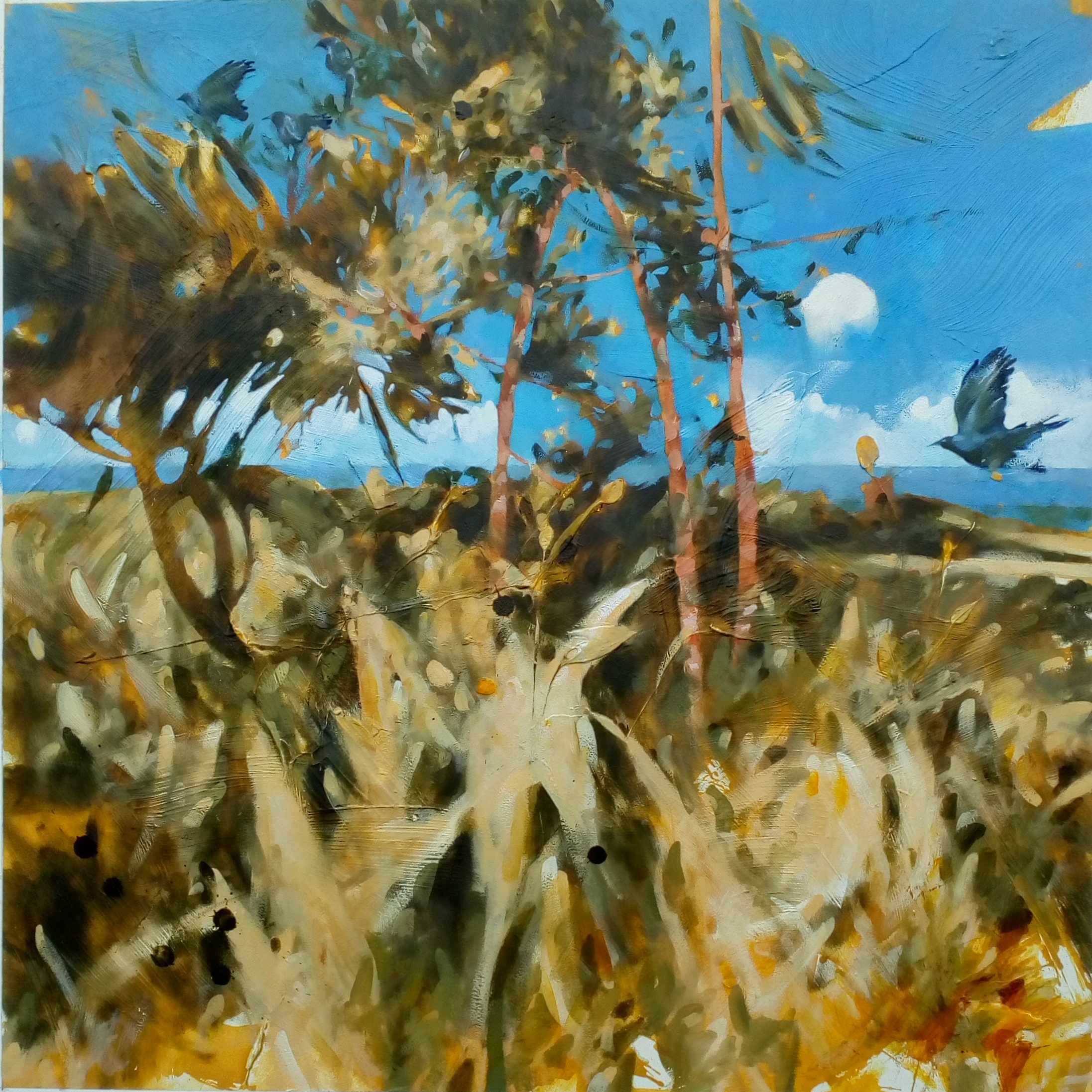 "'The Corn Law Rhymer' Oil h36""x36"" 2021"