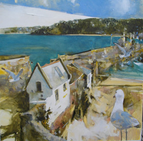 'Before Smeatons Pier. St Ives No.2' Oil