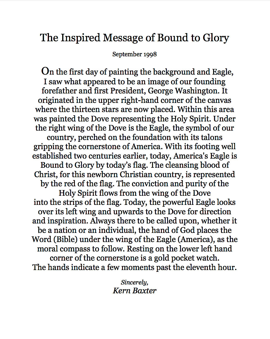 The Inspired Message of Bound to Glory 1