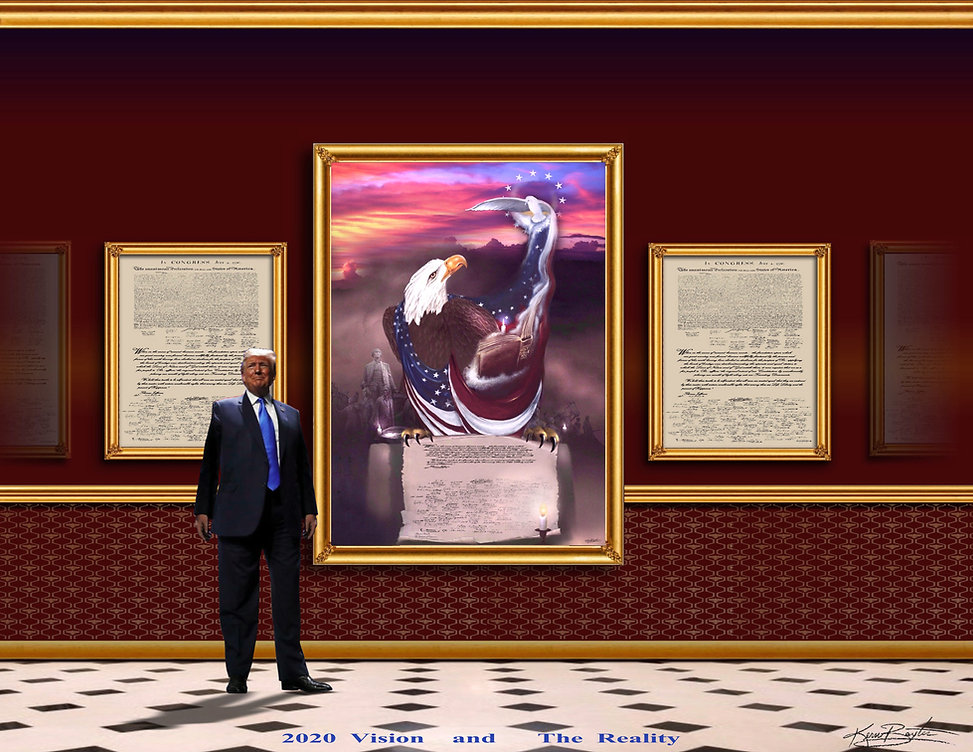 Painting on Wall  with President Trump.j