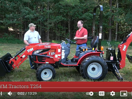 TYM Tractors T254 Product Overview