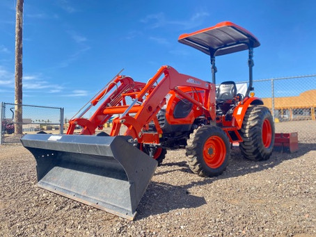 SPECIAL --- 2017 KIOTI CK3510-TL 35HP Tractor Loader WITH ATTACHMENTS - Located in Arizona