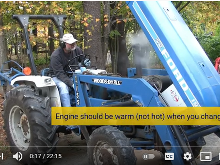 Is It Really This Easy to Change Your Tractor Oil and Filter?