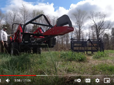 How to Use a Little-known Tractor Implement to Shear Trees and Clear Brush Super Fast