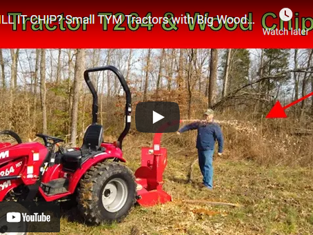How to Make a Smaller Tractor Work with a Huge Overloaded Wood Chipper
