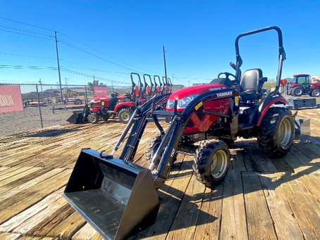 SPECIAL --- 2019 Yanmar 324BXL-TL 25HP 4x4 Tractor Loader with Box Blade