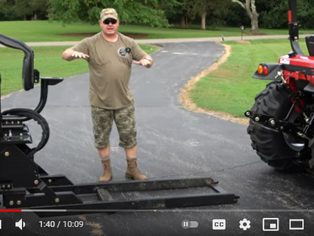 How to Install a Tractor Backhoe in Five Minutes or Less