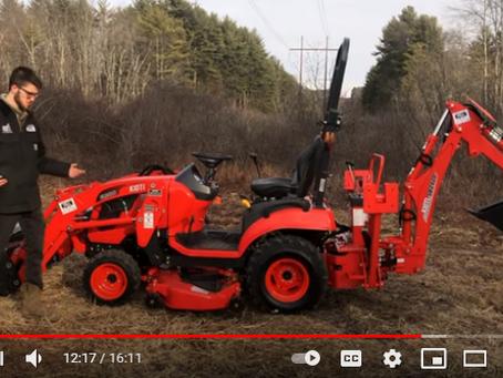 Kioti CS2220 HST Tractor Loader Backhoe Mid Mower Product Overview