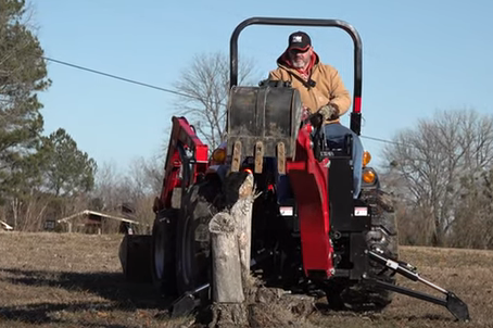 How to Use Your Tractor to Dig Up a Tough Tree Stump