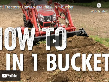 How to Use a Tractor 4 in 1 Bucket