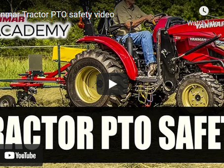 Yanmar Tractor PTO Safety Video