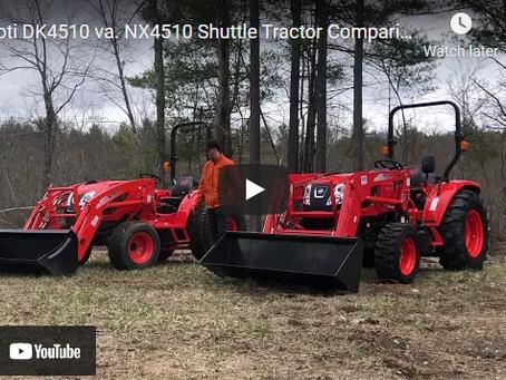 Kioti DK4510 vs. NX4510 Shuttle Tractor Comparison