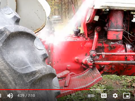 How To Easily Remove The Toughest Baked-in Grease and Grime From a Tractor