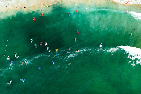 Surfers on Saturday
