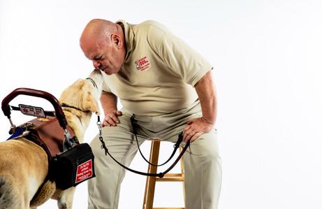 Man with his companion dog.