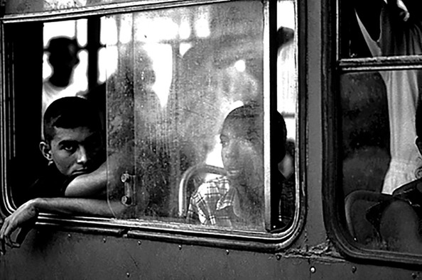 Cuban bus rider