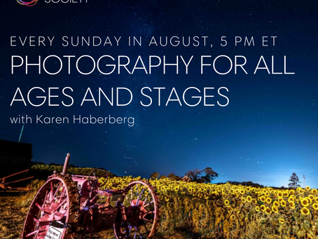 Free Photography Class with Karen Haberberg August 2!
