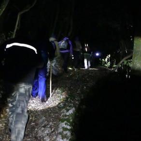 Notturna da Petrisciano allo Speco di Narni - sentiero 646 - Croce S. Valentino - sentiero 637