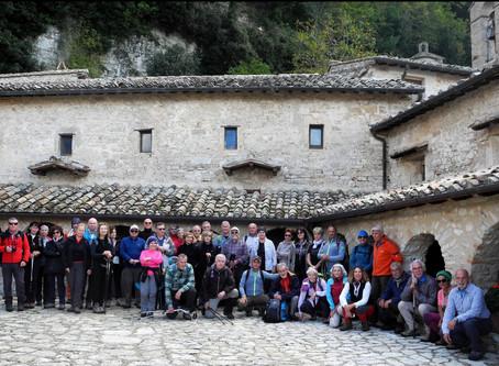 7 novembre 2019 - Visita allo Speco di Narni con gli amici del C.A.I. di Perugia