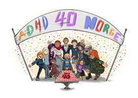 ADHD Norge's 40 year anniversary
