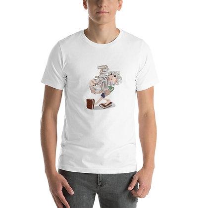 Walking with books - Short-Sleeve Unisex T-Shirt