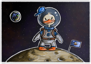 Ducky in space 🦆