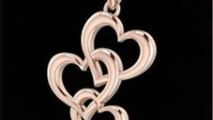 3 Interlock hearts Pendant