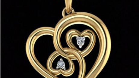 Both Side Heart Pendant