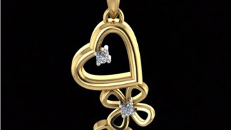 Flowers and Heart Pendant