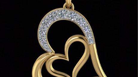 Twisted Heart in heart Pendant