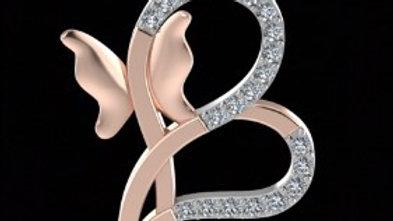 B shaped hearts Pendant