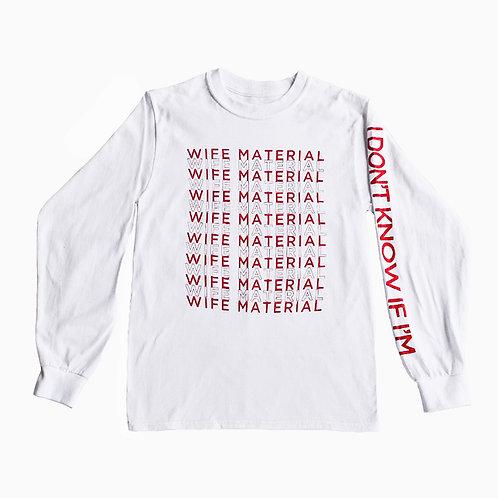 Wife Material White Tee