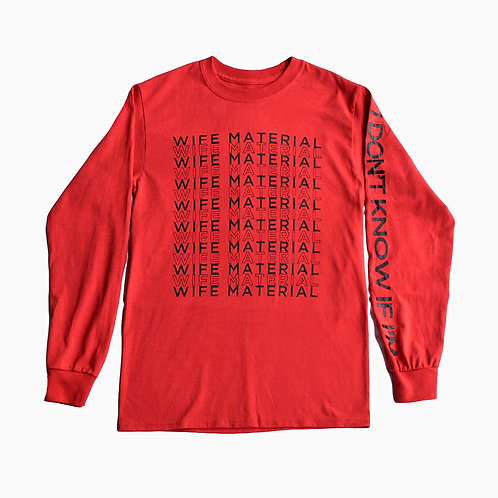 Wife Material Red Shirt