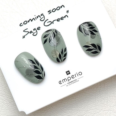 Nail Art in sage green