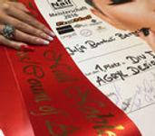 "11/2016  1. Platz und Titel ""Countess of Acryl Design""  Julia Bartuli-Bergeler (Börnicke)  Division I Acryl Design  ""Nail Noblesse"" Meisterschaft 2016, Kalkar"