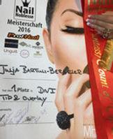 "11/2016  1. Platz und Titel ""Countess of Tip & Overlay""  Julia Bartuli-Bergeler (Börnicke)"